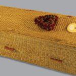 Half round water hyacinth coffin.
