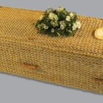 Square banana leaf coffin.