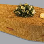 Traditional water hyacinth coffin.