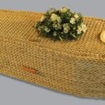 Traditional banana leaf coffin.