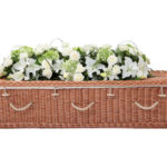 Curved Buff Willow Coffin With Rope Handles Plain